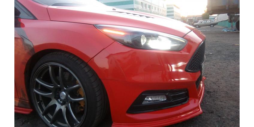 13. Тюнинг фар Ford Focus 3 Рестайл. Линзы Optima Bi-Led