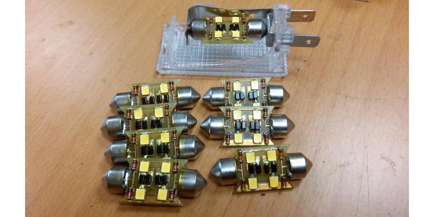 6. Очередной комплект салонного света для SAAB