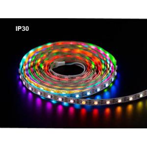 Светодиодная лента с адресными светодиодами WS2812B (30 LED на метр) 5 метров IP30
