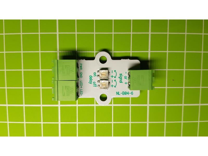 Модуль плавного включения и выключения светодиодов с регулируемой задержкой 10-15 Вольт